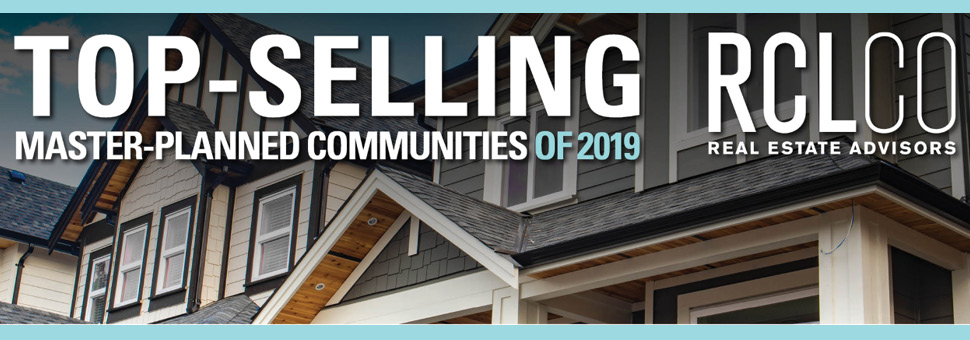 top-selling master-planned communities of 2019